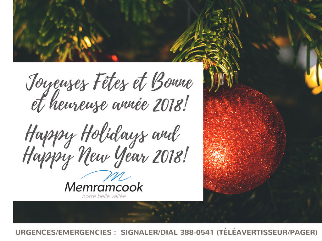 Communications En Happy Holidays And Happy New Year 2018