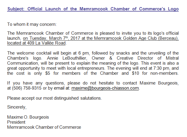 Launch logo Chamber of Commerce March 7 2017