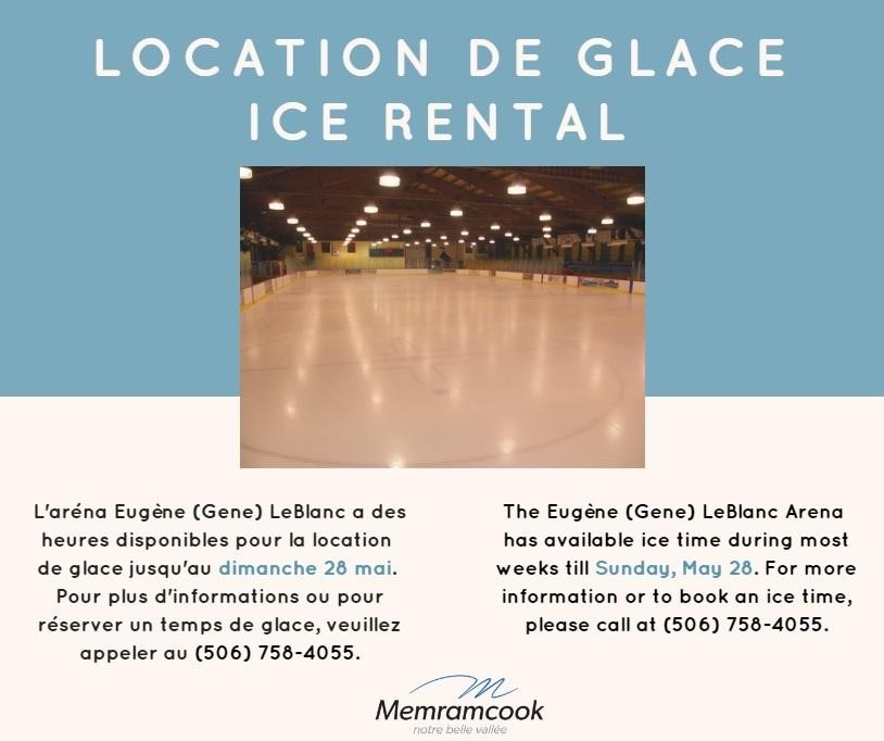 Location de glace Ice Rental annonce 2017