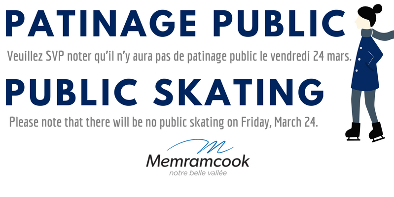 Patinage public 24 mars
